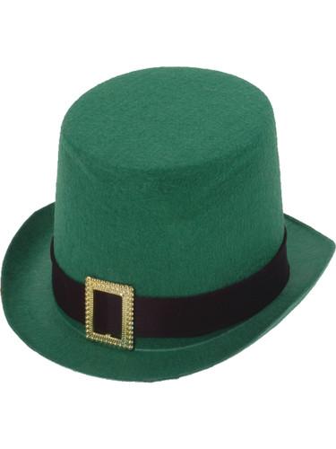 Deluxe New Green Leprechaun Costume Top Hat with Buckle