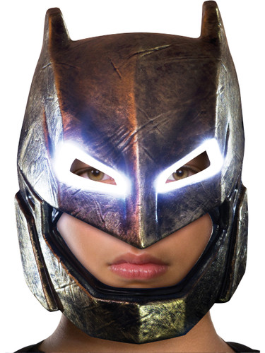 Child's Batman V Superman Armored Batman Light Up Mask Costume Accessory