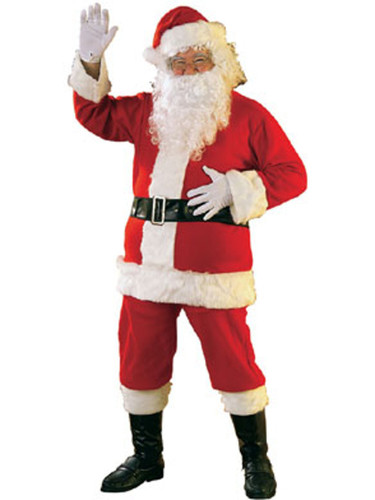 New Adult Large-XL Santa Claus Christmas Costume Suit