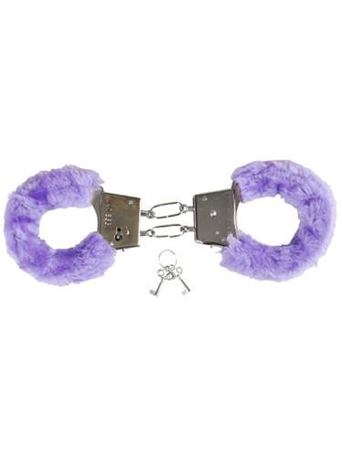 Sexy Soft Purple Fuzzy Furry Handcuffs Hand Cuffs