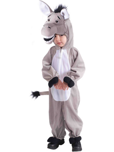 Child's Stuffed Plush Donkey Mascot Costume
