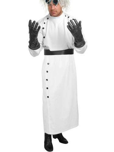 Adult Men's Mad Scientist White Lab Coat Costume