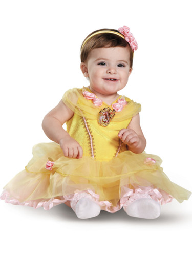 Child's Girls Classic Disney Princess Beauty And The Beast Belle Dress Costume