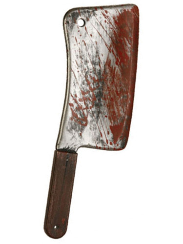 Psycho Killer Costume Accessory Butcher Cleaver Knife