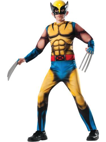 Child's Boys Deluxe Marvel Mutant X-Men Wolverine Muscle Costume