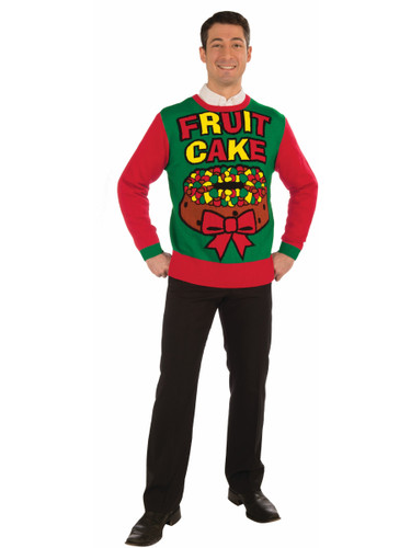 Adults Mens Fruit Cake Funny Ugly Christmas Sweater Party Sweatshirt