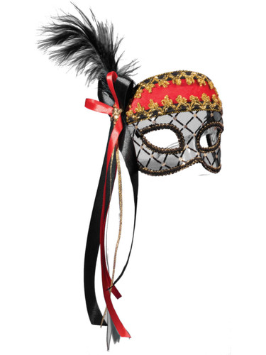 Womens Pirate Wench Venetian Mardi Gras Mask Costume Accessory