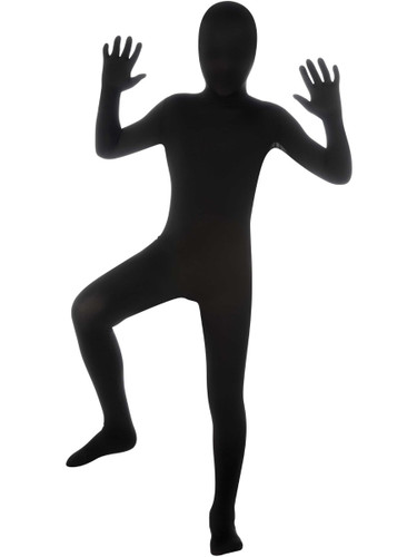 Boys Second Skin Black Zentai Costume Jumpsuit