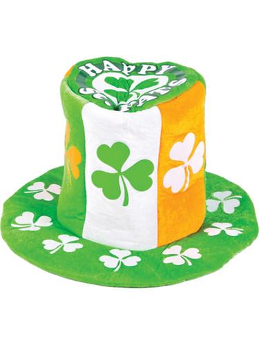Saint Patricks Day Green Happy St. Pats Costume Shamrock Top Hat