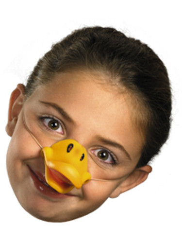 Childs Yellow Duck Goose Bill Costume Accessory Toy Animal Nose Mask