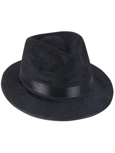 Black Pimp Gangsta Blues Brothers Costume Fedora Hat