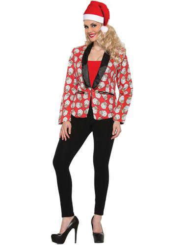 Adult's Womens Santa Claus Suit Jacket Blazer Costume