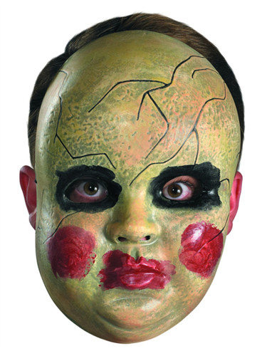 New Scary Halloween Costume Adult's Smeary Doll Face Mask Facemask