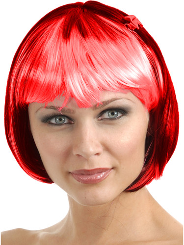 Black And Red Bob Wig