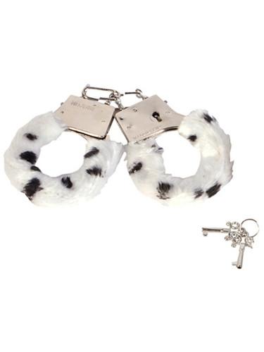Sexy Soft Steel Fuzzy Snow Leopard Furry Handcuffs Hand Cuffs
