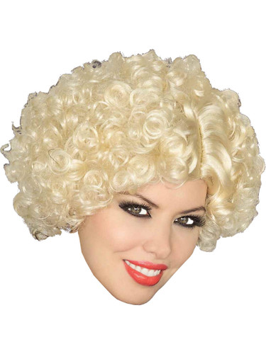 Adult Blonde 20s Flapper Girl Costume Curly Wave Wig
