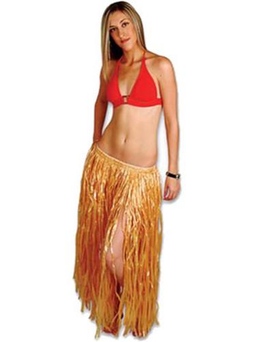 New Hawaiian Luau Brown Natural Grass Hula Skirt Dress