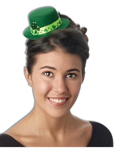 Adult's Patriotic St. Patrick's Day Shamrocks Mini Top Hat Costume Accessory