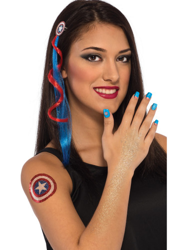 Deluxe Marvel American Dream Costume Accessory Makeup Kit