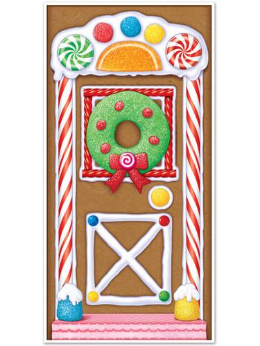 """Gingerbread House Christmas Door Cover Indoor Outdoor 30"""" x 5' Decoration"""