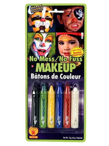 6 Color Halloween Costume Clown Pirate Makeup Crayons