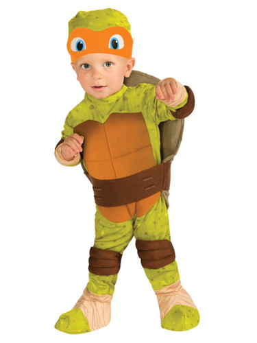 Kids Child Teenage Mutant Ninja Turtles Michelangelo Costume