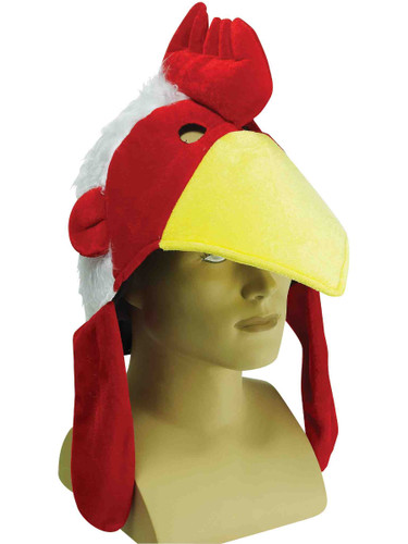 Large Deluxe Stuffed Chicken Rooster Hat Costume Party Cap
