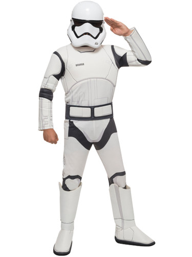 Child's Deluxe Boys Star Wars Episode VII The Force Awakens Stormtrooper Costume
