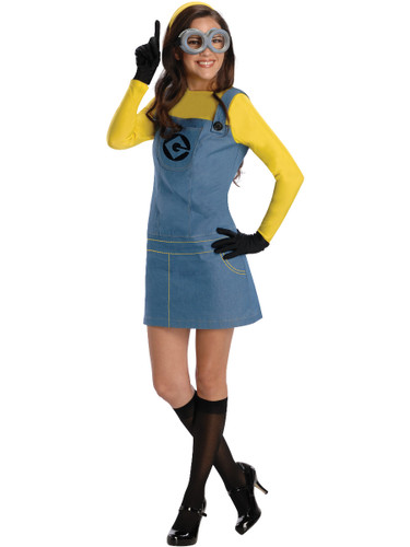 Womens Adult Despicable Me Female Dave The Minion Costume