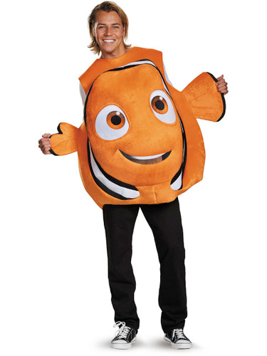 Adult's Mens Finding Dory Nemo Clown Fish Tunic Costume One Size