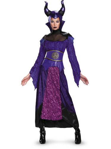 Womens Deluxe Descendants Maleficent Dress With Headpiece Costume