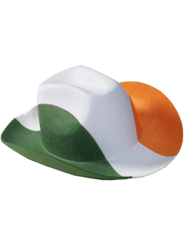 Adult's Happy St. Patrick's Day Irish Color Cowboy Hat Costume Accessory