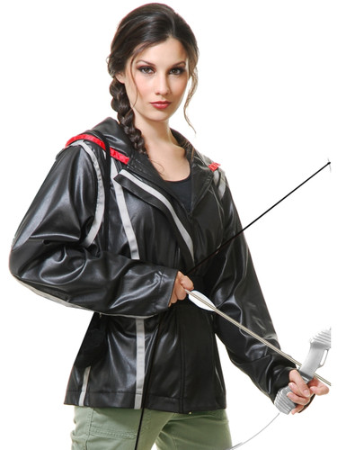 Adults Womens Survival Games Catching Fire Katniss Archer Jacket Costume