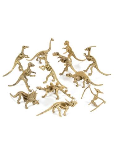 "Lot 12 Assorted 8"" Extinct Skeleton Dinosaur PVC Figurines Decorations"