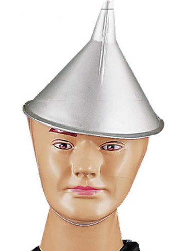 Adult Novelty Oz Tin Man Gray Silver Funnel Hat