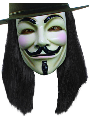 V for Vendetta Adult Costume Guy Fawkes Deluxe Wig