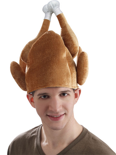 Plush Roasted Turkey Thanksgiving Hat Ball Tipped Costume Party Cap