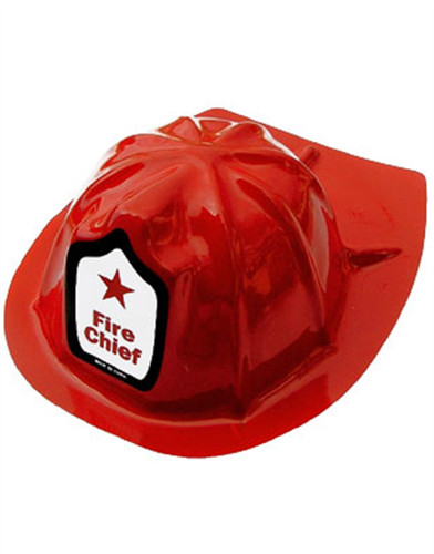 New Adult Plastic Fireman Costume Fire Chief Helmet Hat