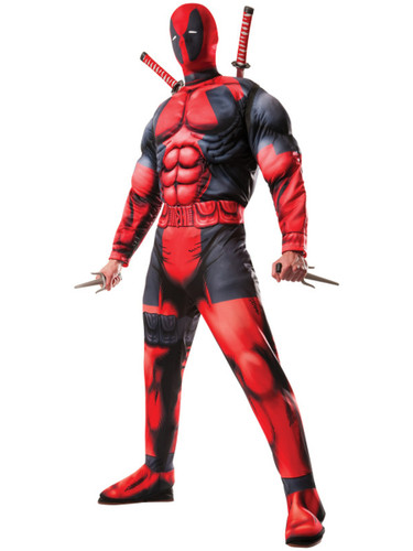 Men's Deadpool Deluxe Fiber Filled Avengers 2 Costume