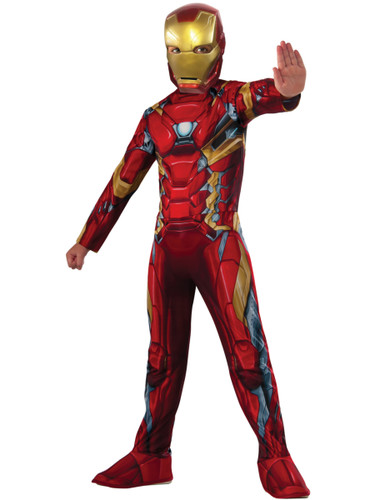 Child's Boys Marvel Avengers Iron Man Captain America Civil War Costume