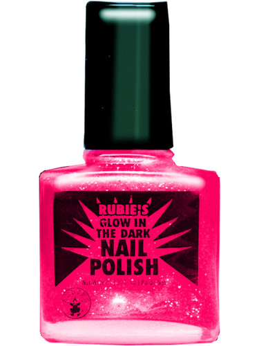 80s Rock Star Punk Princess Neon Pink Fingernail Black Light Glow Nail Polish