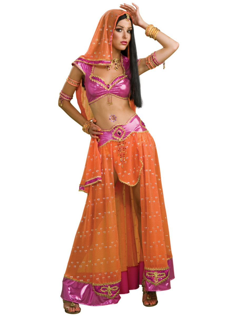 cc450ce8a Women's Sexy Adult Bollywood Dancer Exotic Indian Costume. Click to enlarge