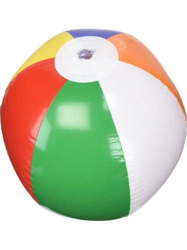 "12"" Classic Inflatable Beach Ball Multicolored Swimming Pool Party Favor Toy"