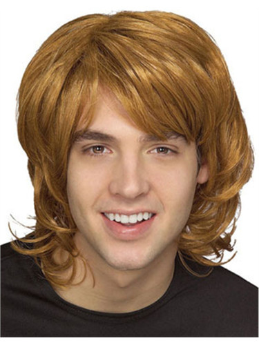 Adult Mens Blonde 70s Hippie Costume Shag Shaggy Wig
