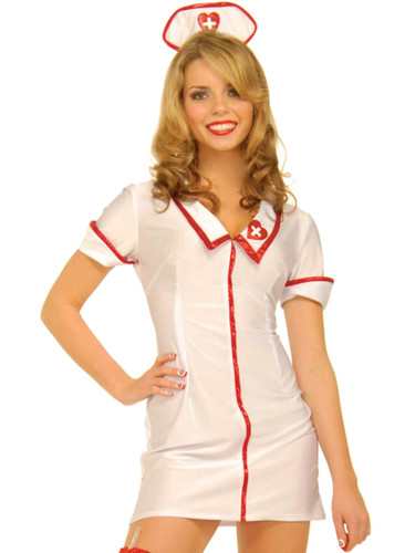 Adult's Womens Sexy Head Hospital Nurse Costume Dress