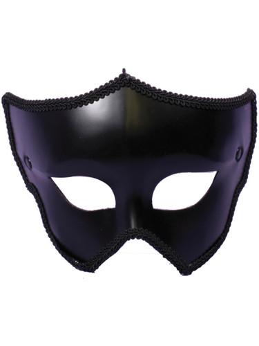 Mens Or Womens Black Mask Halloween Spirit Costume Accessory
