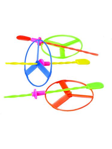 Twisty Flying Saucer High Disc Spinner Propeller Assorted Color 12 Pack Toys