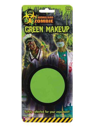 Deluxe Biohazard Zombie Halloween Costume Fluorescent Green Makeup