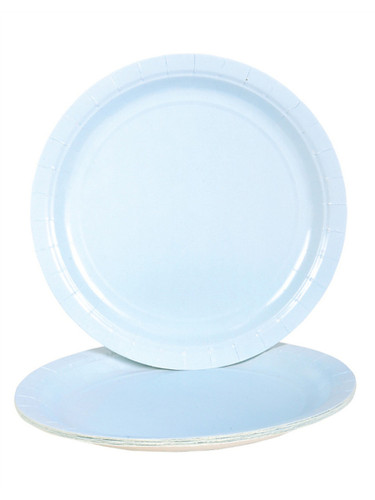 """Lot 25 9"""" Light Blue Lunch Dinner Party Paper Plates"""