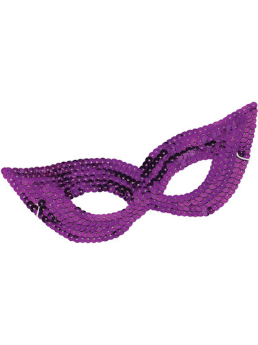 New Adult or Childs Purple Masquerade Ball Carnival Sequin Mask